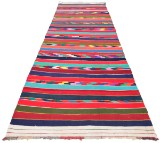 Handknuten persisk matta, Harsin-Kelim 355 x 142 cm