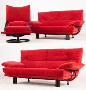 2er Sofa Und 3er Sofa Dazu Und Sessel Von Bmp Polstermobel 3