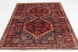 Handknuten äkta matta, Bakhtiari, 190x155 cm
