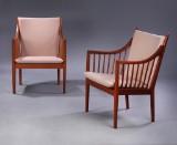 Hans J. Wegner. Two spoke-back chairs, model PP-105 (2)