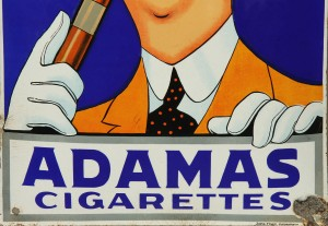 Adamas Cigarettes adamas cigarettes' enamel sign | lauritz