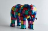 PopArt skulptur i form af elefant