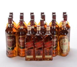 Samling af whisky fra Grants og Johnnie Walker (21) - Dk, Herlev, Dynamovej - Samling af whisky fra Grants og Johnnie Walker (21) - Dk, Herlev, Dynamovej