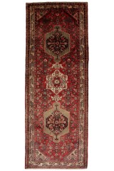 Persisk Hamadan løber, 335 x 122 cm.