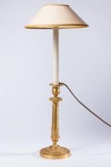 Tischleuchte/Kerzenleuchter, Bronze, 19. Jh.