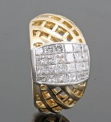 Diamond ring in 18kt approx. 1.59ct