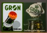 To skilte, emalje- samt blikskilt, 'Grøn Tuborg' m.m. (2)