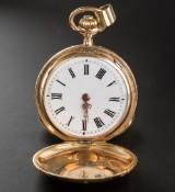 Dame-vedhængsur med springkapsel 14 kt. rosaguld/guld