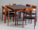 Niels O. Møller, chair and dining table in Brazilian rosewood for J.L. Møllers Møbelfabrik (7)