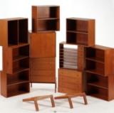 Danish furniture producer. Free-standing shelving system, teak (11)