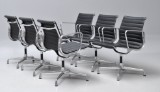 Charles Eames. A set of six armchairs, model EA-107 (6)