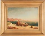 Oidentifierad konstnär, oljemålning, nordafrikanskt kustmotiv