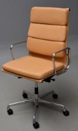 Charles Eames. Kontorstol med armlæn, EA 219 'Full Leather'