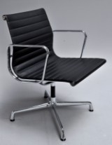 Charles Eames. Armchair, model EA-108, black leather