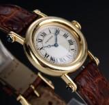 Cartier 'Diablo'. Ladies watch, 18 kt. gold with sapphires