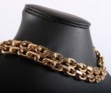Dobbelt ankerkæde. Halskæde af 14 kt guld, 455 gram