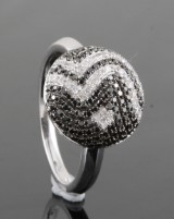 Diamond ring, 14kt. white gold, approx. 0.54ct.