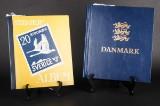 En samling danske og svenske frimærker i albums. (2)