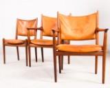 Hans J. Wegner, 3 chairs, including armchair model 'JH513' for Johannes Hansen (3)