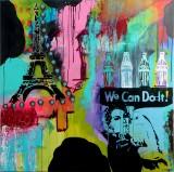 Alf Pedersen. 'We can do it', 130 x 130 cm