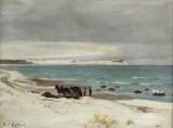 Carl Locher. Winter day, Hornbæk beach