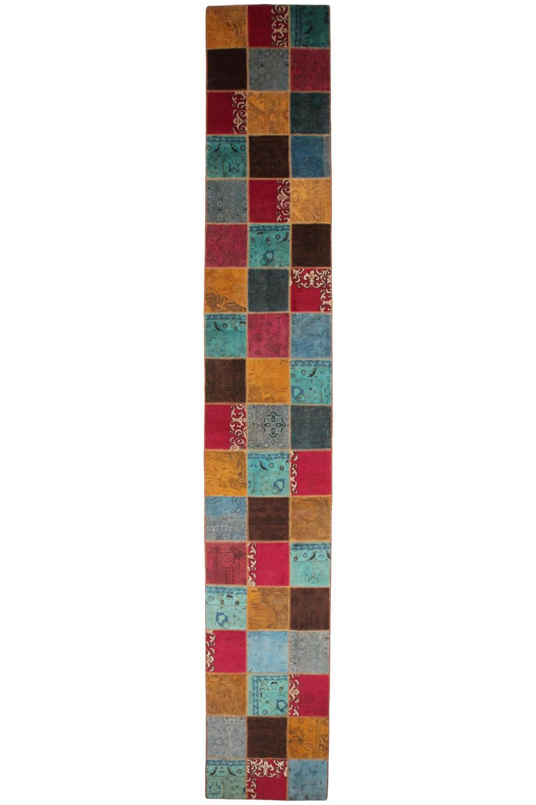Persisk Patchwork løber, 550 x 86 cm - Persisk Patchwork løber, fremstillet af persiske vintage fragmenter. 550 x 86 cm