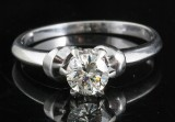 Diamond solitaire ring in 18kt approx 0.50ct
