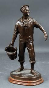 Carl Theodor Wegener. Figur af bronze