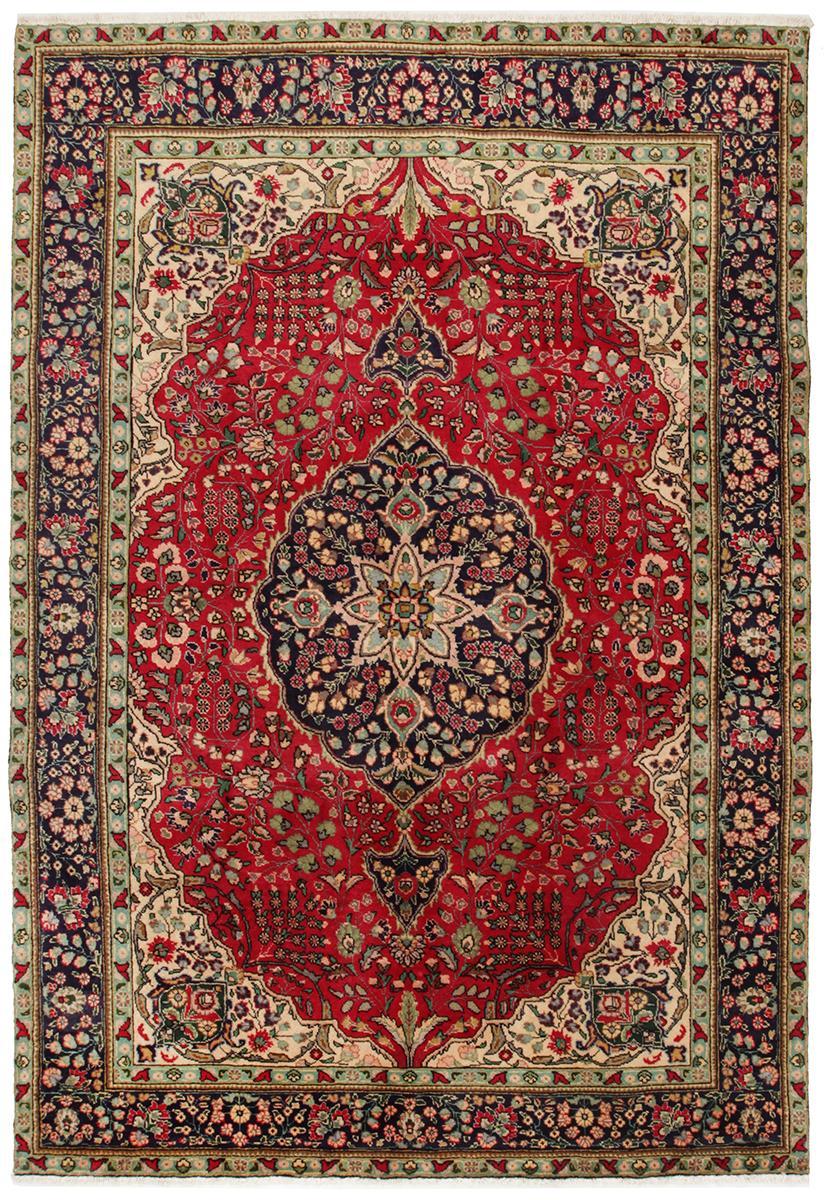 Persisk Tabriz 292 x 200 cm - Persisk Tabriz 292 x 200 cm Håndknyttet uld på bomuld