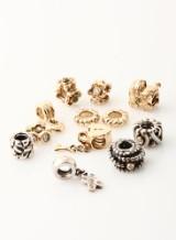 Pandora charms af guld og sterlingsølv, 3 charms med brillanter (12)