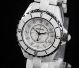 Chanel J12 damearmbåndsur af hvid keramik, ref.: H0968