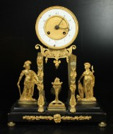 Table clock, Empire, 19th century-first half