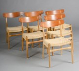 Hans J. Wegner. Six chairs, model CH-23 (6)