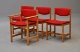 Høng Stolefabrik; 4 stole i bøg (4)
