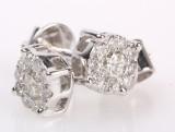 Diamant ørestikker fra Diamonds by Frisenholm, 14 kt rhodineret guld, ca. 0.40 ct.