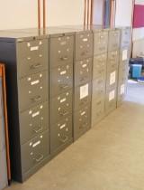 Seks arkivskabe af metal (6)