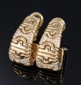 Bvlgari. A paif of 'Parentesi' diamond earrings, 18 kt. gold