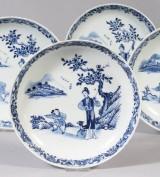 Tallrikar, porslin, Kina, Qianlong, 1700-tal (4)
