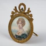 Bilderrahmen mit Miniaturmalerei, Porträt der Königin Hortense