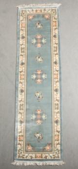 Chinesischer Seidenteppich, blau