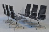 Charles Eames. A set of six armchairs, model EA-112/119 (6)