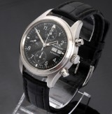 IWC 'Fliegerchronograph'. Men's watch, steel, with original strap and clasp c. 2002