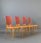 Max Bill, set of plywood board chairs for Horgen Glarus (4)