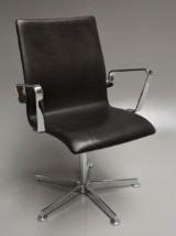 Arne Jacobsen. Oxford office chair, model 3271, 'Elegance' leather