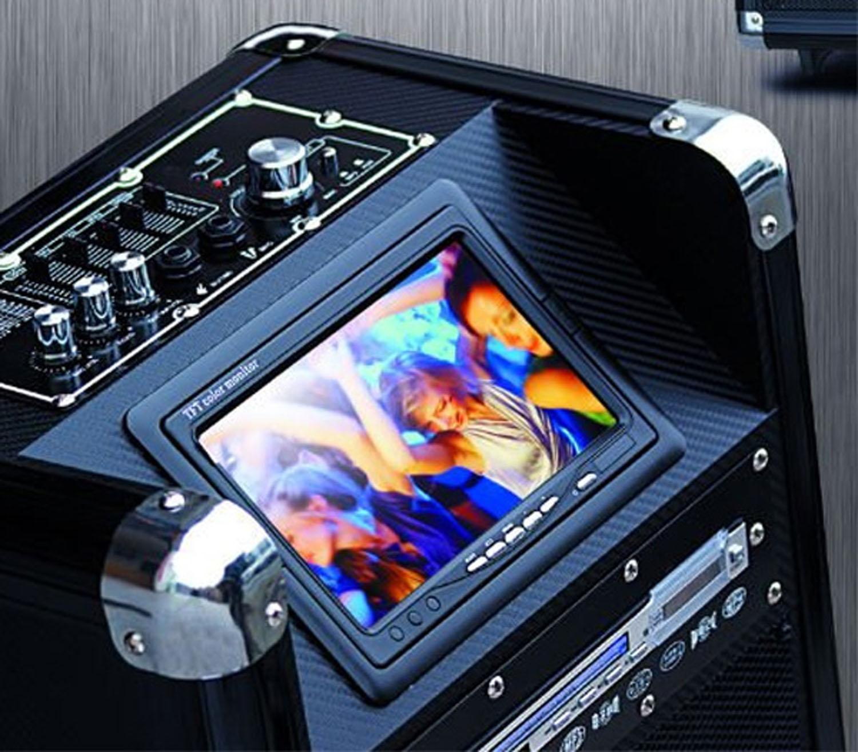 Stor luxus trolley digital højttaler m/ DVD skærm, trådløs mikrofon m.m - Stor luxus trolley digital højttaler m/ DVD skærm og trådløs mikrofon samt mulighed for 2 ekstra mikrofoner og elektrisk guitar med separat volume på hver. Højtaleren har indbygget bluetooth, så du kan afspille musik fra din IPhone/smartphone,...