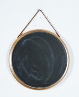 Spegel, rundl form i ek, 1960-tal.