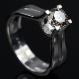 Solitaire ring ca. 0.90 ct.