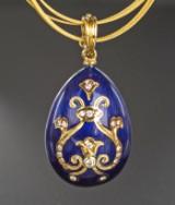 Brilliant-cut diamond Fabergé egg pendant