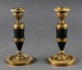 Par stager i empireform af  bronze (2)