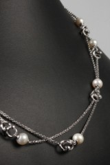 Regitze Overgaard for Georg Jensen. 'Magic' necklace, 18 kt. white gold with freshwater cultured pearls